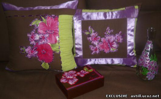 дизайнерские подушки ручной работы в единственном экземпляре. Negnaja_fialka